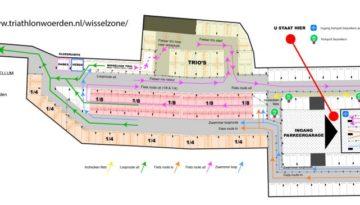Wisselzone Triathlon Woerden parkeergarage Castellum