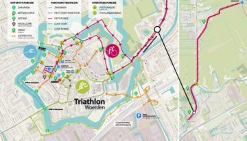 Triathlon Woerden kaart flyer 2019